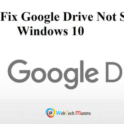 Google drive not syncing issue
