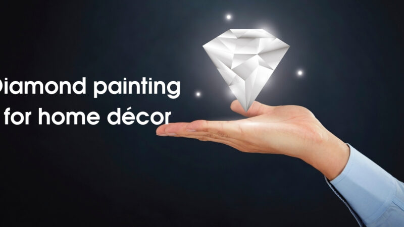 Diamond painting for home décor