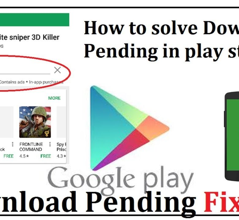 Fixing Google Play Store Download Pending