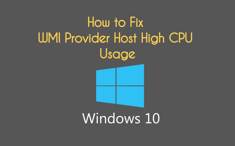 How can we fix wmi provider host