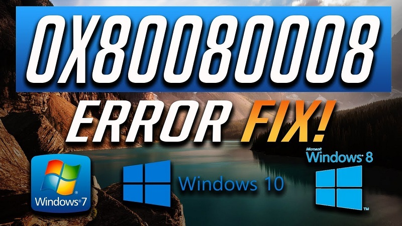 How to Solving error 0x80080008