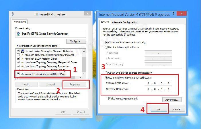 Modify DNS Servers