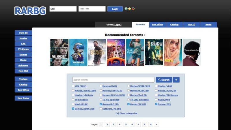 RARBG Proxy Torrent Sites Download Free Movies