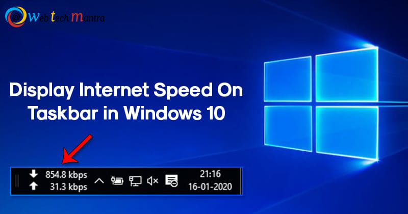 Simple ways to Display internet speed on Task Bar in Windows!