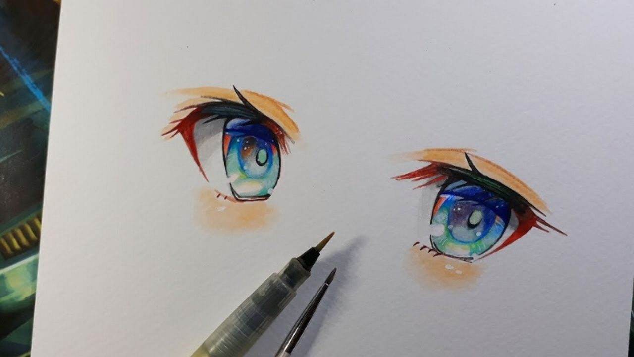 We got some smart ways on anime eyes easily