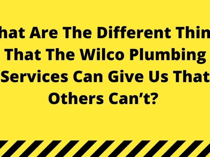 What Are The Different Things That The Wilco Plumbing Services Can Give Us That Others Can't?