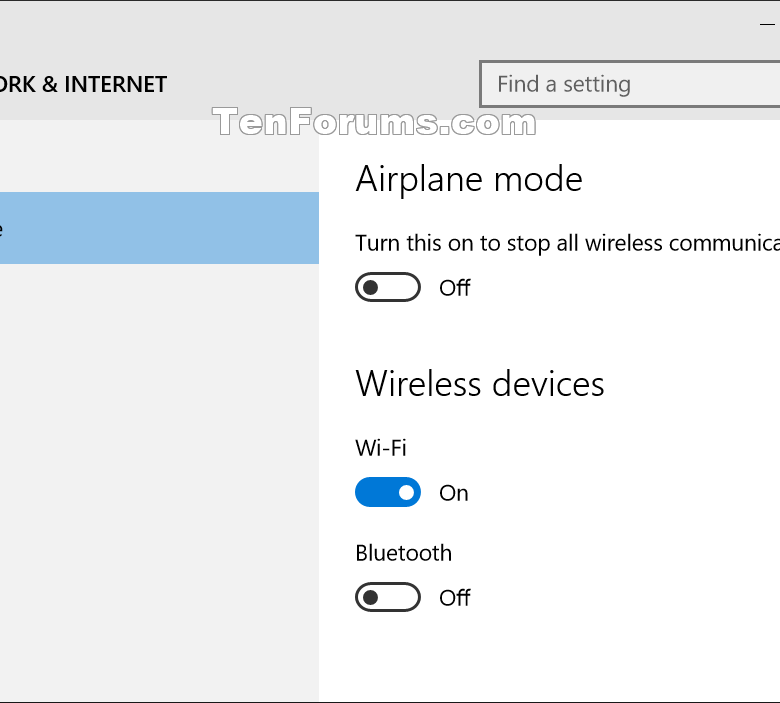 windows 10 stuck in airplane mode